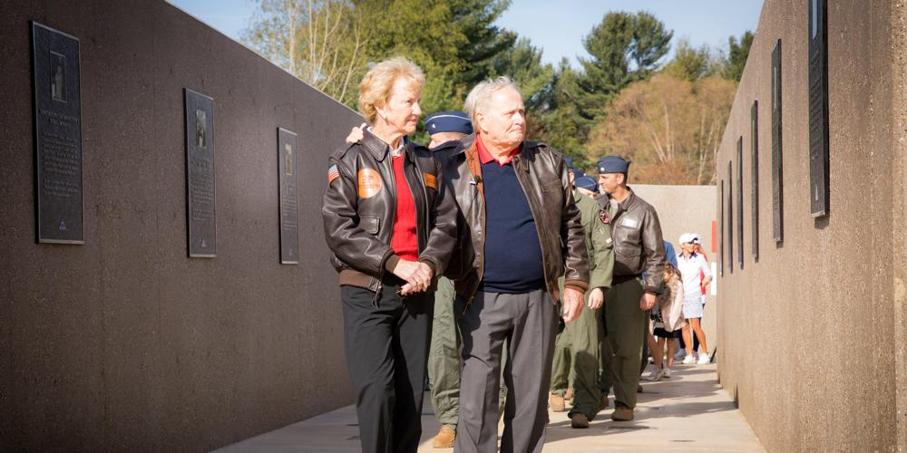 Jack and Barbara Nicklaus Walk Folds Of Honor Memorial