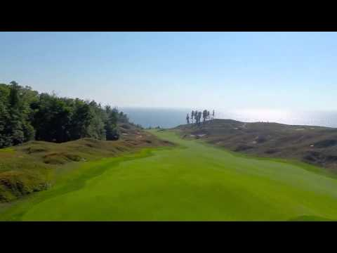 Arcadia Bluffs Golf Course Fly Over